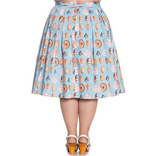vas Sirne Bunny Jupe Midi Coquillage Rtro Bleu Maya Hell 1950 Bay Vintage Annes aqBqw
