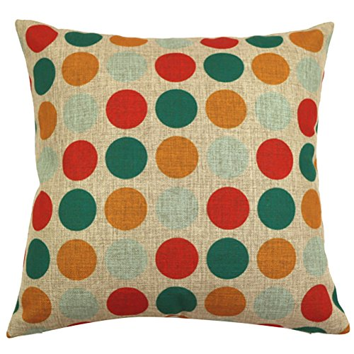 Square Colorful Geometric Printed Stuffed Cushion ChezMax Cotton Stuffing Throw Pillow Insert For Living Room Sofa Couch Chair Back Seat price