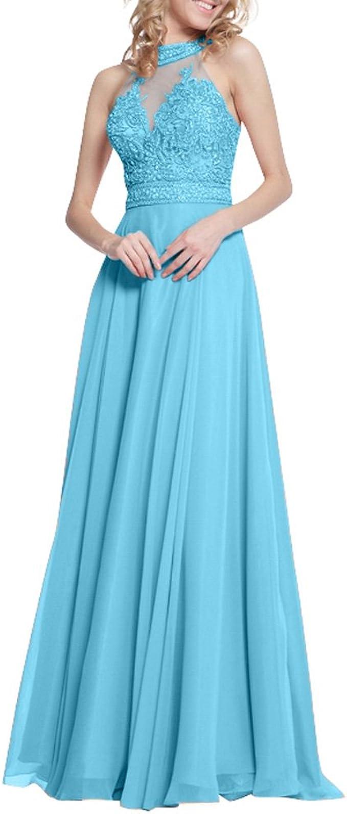 Royaldress Damen Elegant Chiffon Abendkleider Partykleider