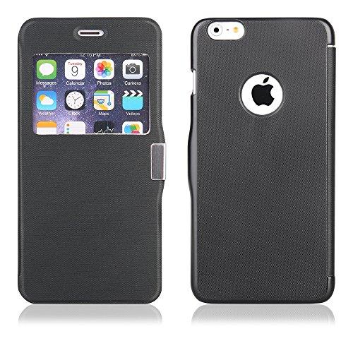 UNBEKANNT Etui FLIP CASE MAGNETIC pour Iphone 6 Plus noir