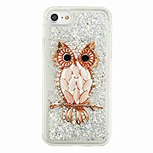 iPhone 8 Plus Case,iPhone 7 Plus Glitter Case,DAMONDY 3D Cute Moving Bling Liquid Glitter Floating Dynamic Flowing Ultra Clear Soft TPU Case for Apple iPhone 7/8 Plus 5.5 Inch-beikemao