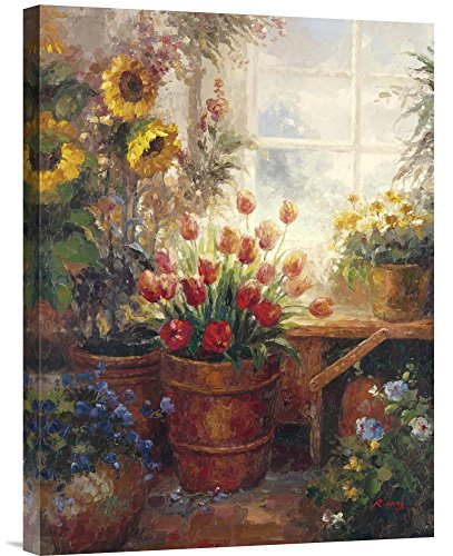 """Global Gallery GCS-121143-1824-142 """"Hong Sunflower Garden I"""" Gallery Wrap Giclee on Canvas Print Wall Art from Global Gallery"""