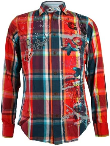 DESIGUAL Hombre Diseñador Camisa Shirt Camisetas - BLAI -