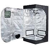 TopoLite 96'x96'x80' Indoor Grow Tent Hydroponic Growing Dark Room Green Box with Viewing Window