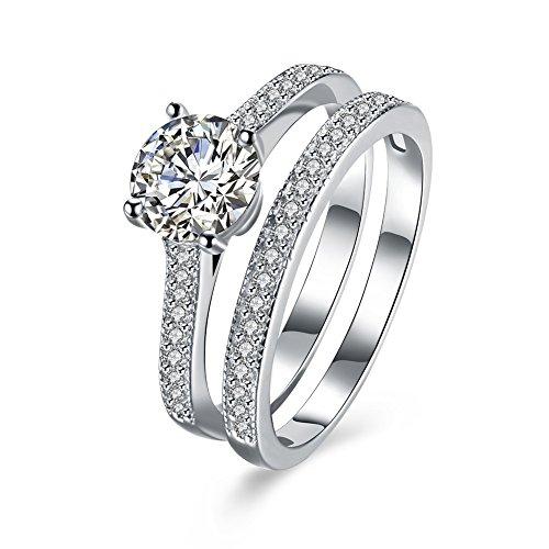 Amazon Com Balansoho Women 925 Sterling Silver Engagement Rings