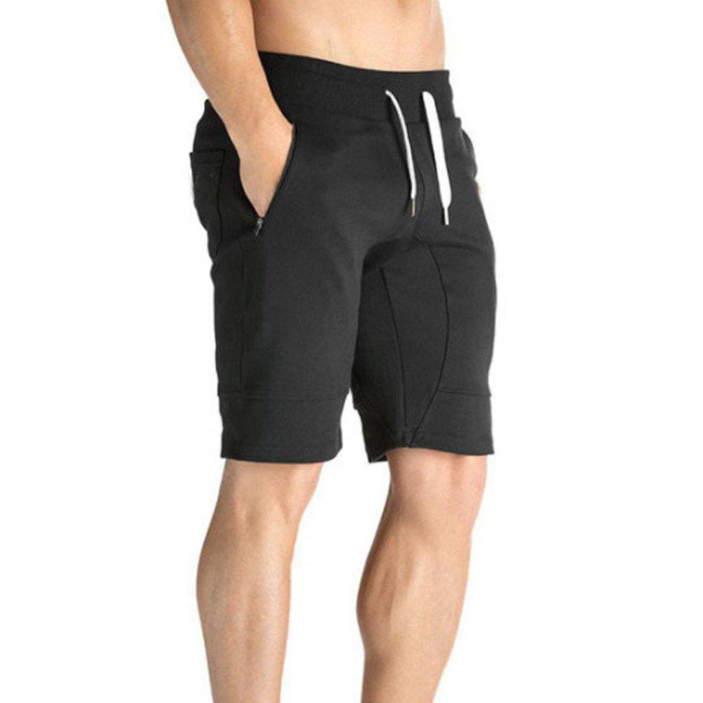 Leey Homme Short Sport S/échage Rapide Ete Cordon de Serrage Pantalons Court Fitness Tennis Gym Jogging