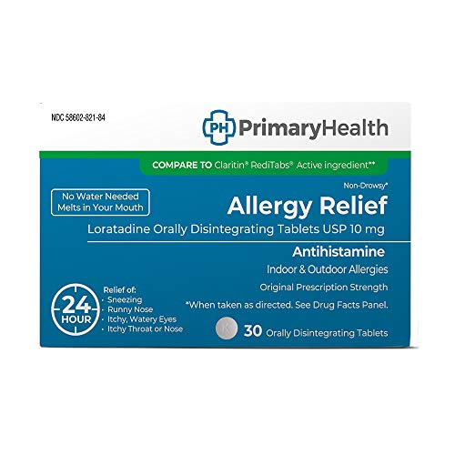 Primary Health Allergy Relief Loratadine 10mg Orally Disintegrating Tablets, 30 Count