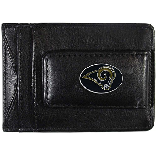 NFL St. Louis Rams Leather Money Clip Cardholder ()