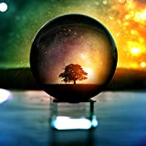 ZEYAN Lens Crystal Ball, Art Decor K9 Crystal Prop for Photography Decoration Gift (3.15'' K9 Clear with Stand)