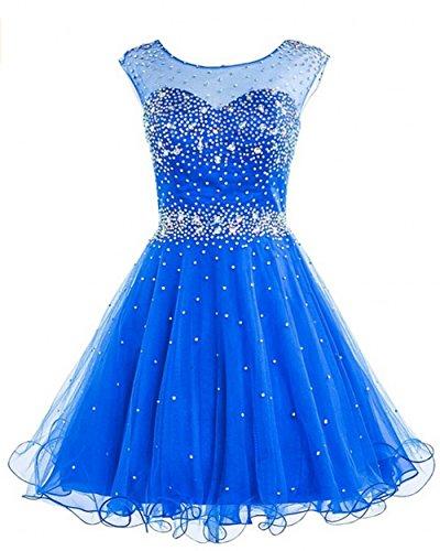 KA Beauty - Vestido - para niña azul real