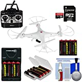 Vivitar DRC-120 Camera Aerial Quadcopter Drone (White) 16GB Card + Battery + Charger + Kit