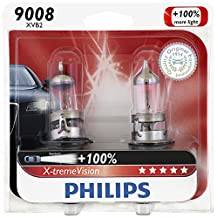 Philips 9008 X-tremeVision Upgraded Headlight Bulb, 2 Pack