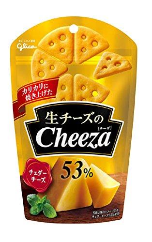 江崎グリコ 生チーズのチーザ チェダーチーズ 40g×10個