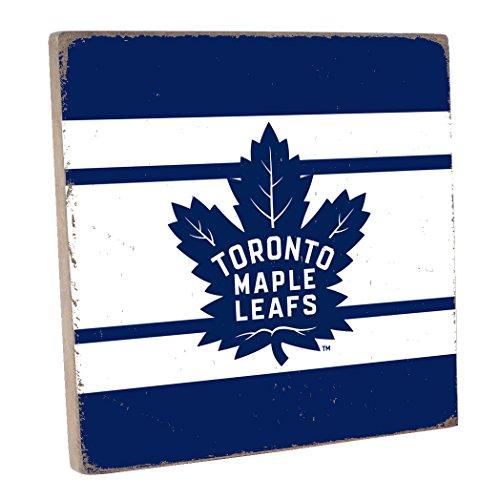 Rustic Marlin Designs NHL Toronto Maple Leafs,Navy, Vintage Square, 12