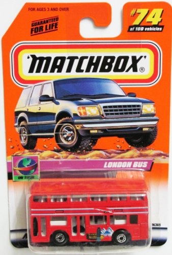 Matchbox 1999-74 of 100 Series 15 on Tour London Bus 1:64 Scale