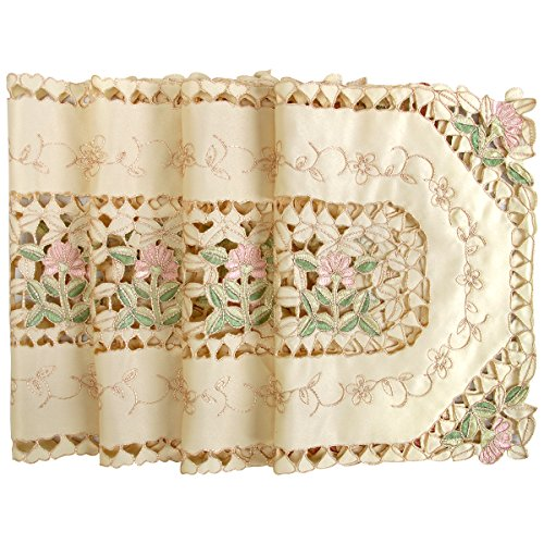Simhomsen Simhomsen Beige Lace Table Placemats Rectangle 12 by 18 Inch Set of 4 price tips cheap
