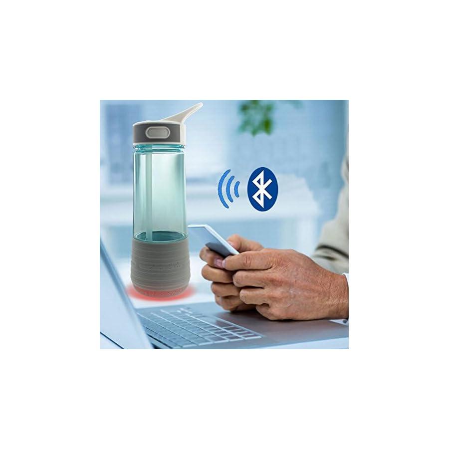 Sports Water Bottle, 3 in 1 Bluetooth Outdoor Speakers Water Bottle& Safety Light Wireless IPX7 Waterproof Outdoor Riding Sports Water Bottle