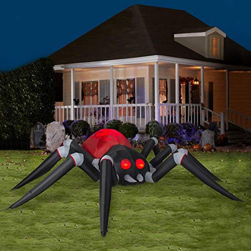Gemmy 14Ft Colossal Fire and Ice Halloween Indoor/Outdoor Inflatable Spider Holiday Decoration