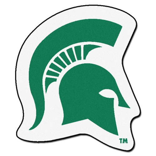 FANMATS NCAA Michigan State University Spartans Nylon Face Mascot Rug