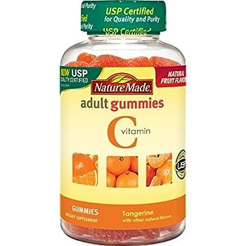Nature Made Vitamin C Adult Gummies Tangerine, 80 Count