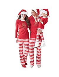 Danlan Christmas Matching Family Pajamas Sets for The Family
