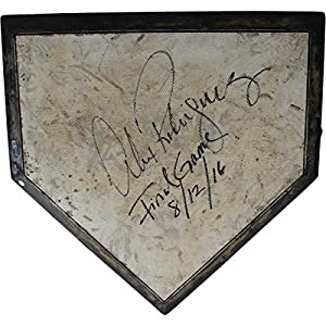 Alex Rodriguez Signed New York Yankees Game Used Home Plate (Main Field) (8/12/2016) w/Final Game 8/12/2016 Insc.