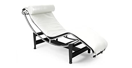 Kardiel Le Corbusier Style LC4 Chaise Lounge Cream White Aniline Leather  sc 1 st  Amazon.com : chaise lounge corbusier - Sectionals, Sofas & Couches