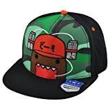 Domo Face Drink Hat Animation Snapback Japanese Flat Bill Character Hat Cap offers