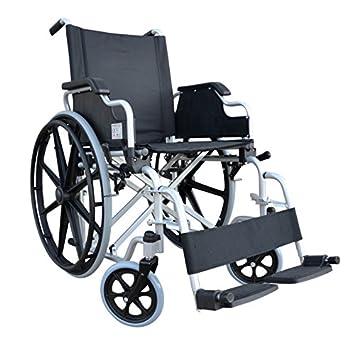 POLIRONESHOP DELO Silla de ruedas autopropulsable plegable y ...
