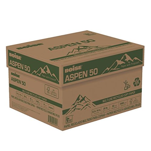 BOISE ASPEN 50 MULTI-USE RECYCLED COPY PAPER, 8 1/2