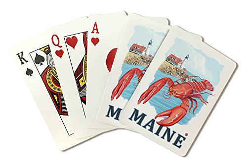 Portland Lighthouse (Playing Card Deck - 52 Card Poker Size with Jokers) (Lobster Portland Maine)