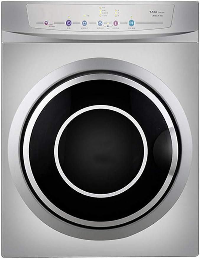 Secadora con Ventilación, Tambor Pequeño para El Hogar 7.5KG Máquina Automática De Secado Rápido, Control De Temperatura Dual
