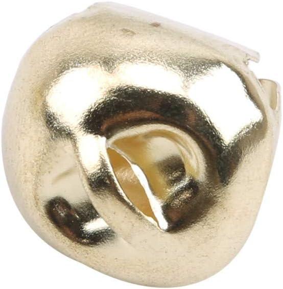 Sevenfly 10Pcs Jingle Bells Craft Bells Set For Home Craft And Christmas Decoration Gold color