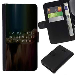 - MESSAGE EVERYTHING INSPIRING ALRIGHT GOING - - Prima caja de la PU billetera de cuero con ranuras para tarjetas, efectivo desmontable correa para l Funny House FOR Sony Xperia M2