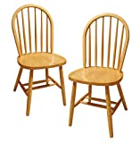 Wood Kitchen Chairs Winsome Wood Windsor Chair, Natural, Set of 2