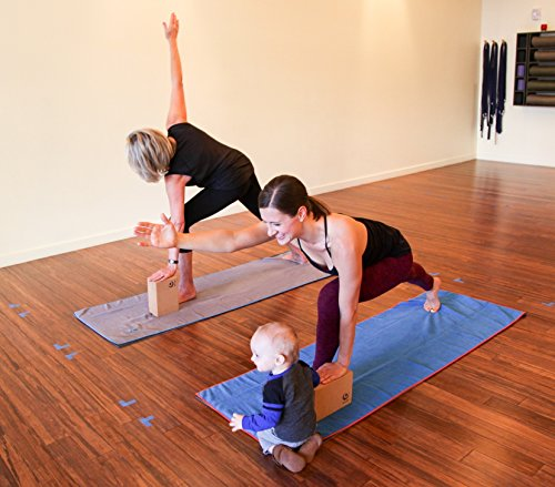 Drishti Warrior Yoga and Sport Towel (Blue) - Soft, Absorbent, Non-Slip Bikram / Hot Yoga Towel - Microfiber with Textured Weave