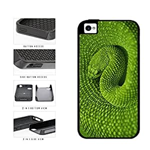 Detailed Green Snake Dual Layer Phone Case Back Cover Apple iPhone 5c includes diy case Cloth and Warranty Label