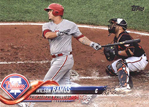 2018 Topps Update and Highlights Baseball Series #US170 Wilson Ramos Philadelphia Phillies Official MLB Trading Card
