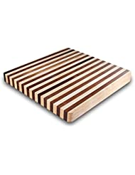 Kobi Blocks Maple Walnut Stripes Butcher Block Wood Cutting Board 16 X 22
