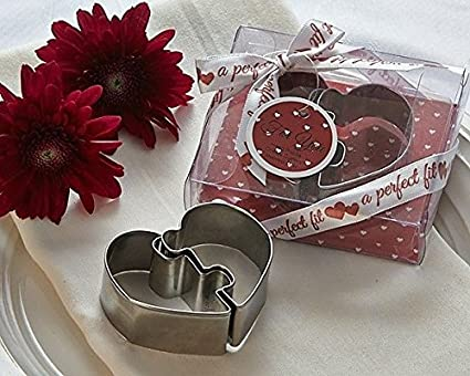 96 a perfect fit heart puzzle cookie cutters bridal shower wedding favors supply_by_aromalite