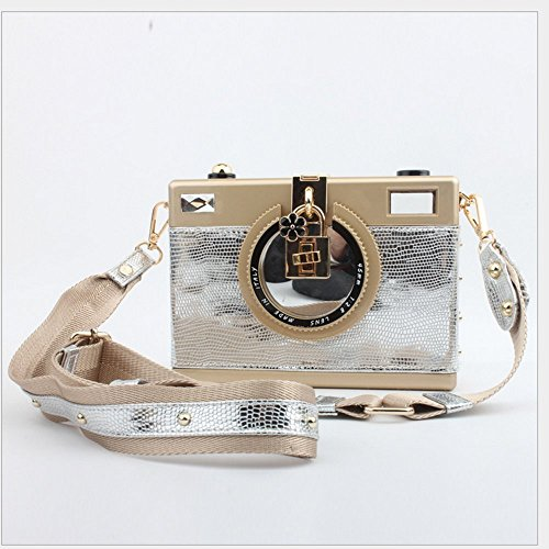 Hand Silver Rrock Party Mosaic Bag End Evening High Seven Mini Women's Colors Bag 7wYq7Ax8r
