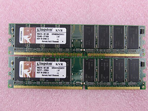 Kingston KVR400X64C3A/512 1GB 2 x 512MB PC3200U DDR400 NonECC Desktop Memory Kit