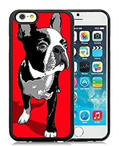 Wishing Boston Terrier Art Black iPhone 6 4.7 inch TPU Cellphone Case Unique and Fashion Cover