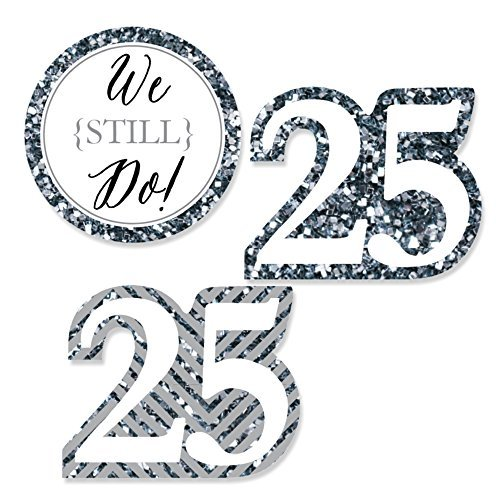 Big Dot of Happiness We Still Do - 25th Wedding Anniversary - DIY Shaped Party Cut-Outs - 24 Count]()