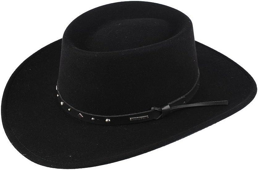 Stetson Black Hawk Wool Felt Western
