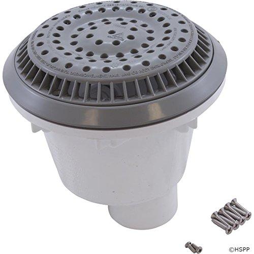 """Waterway Plastics 640-2667 V 1-1/2"""" Socket Anti-Vortex, Gray"""