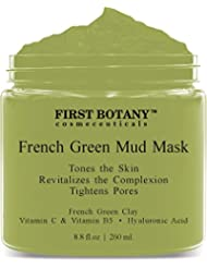 French Green Mud Mask 8.8 fl oz for men and women -...