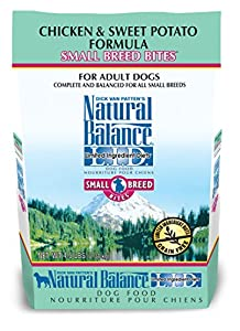 Natural Balance Small Breed Bites Limited Ingredient Diets Chicken & Sweet Potato Formula Dry Dog Food, 4.5 lb