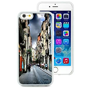 NEW Unique Custom Designed iPhone 6 4.7 Inch TPU Phone Case With Narrow Street In Girona Spain_White Phone Case