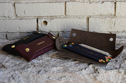 Custom Leather Pencil Case. Personalized Pencil - Sunglass Monogrammed Case